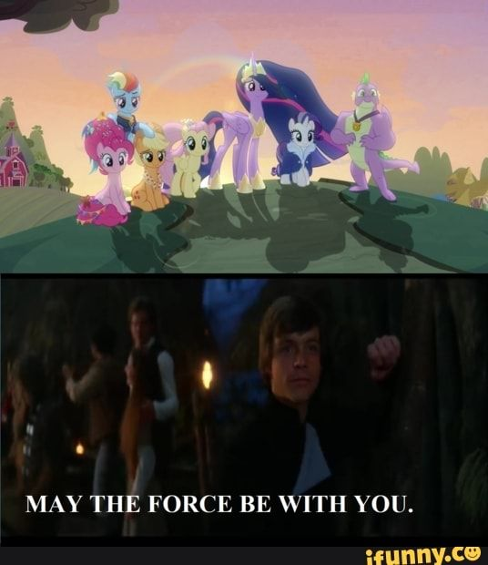 May The Force Be With You Ifunny Funny Star Wars Memes Mlp Memes My Little Pony Names