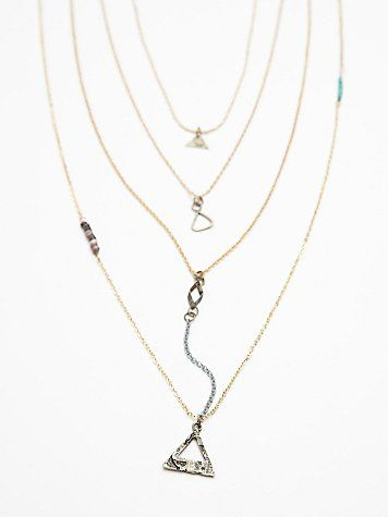 Waterfalls Necklace | Gold Triangle