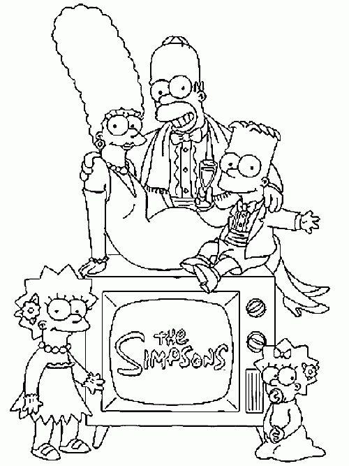 Die Simpsons 9 Ausmalbilder | Auto Hd Wallpapers | Pinterest