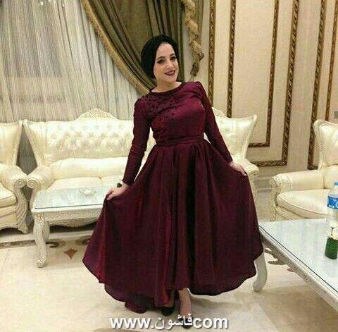 لعشاق اللون النبيتي فساتين سواريه نبيتي تحفة Soiree Dress Fancy Dress Design Tea Length Bridesmaid Dresses