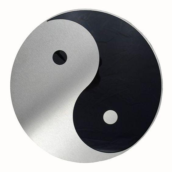 Yin und Yang - Deko aus Edelstahl für die Wand