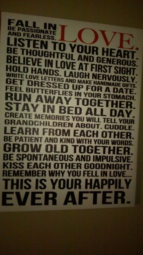 This is our happily ever after....