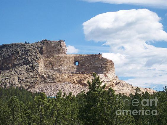 Crazy Horse Memorial in South Dakota.  From my eyes, through the view finder to the click of the shutter. I hope you enjoy these moments in time that have been captured. Stop by and check out some of my other Galleries on Fine Art America. Just simply search for Thomas Woolworth. Photographer (1977), Digital Artist and Owner V'CAD Support (since 1987). 