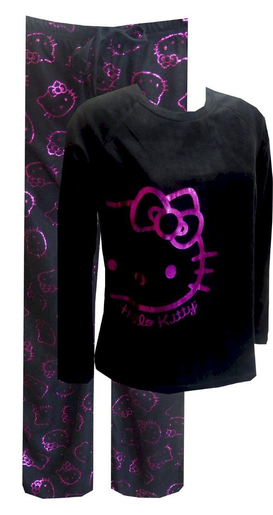 Hello Kitty Shiny Face Micro Polar Fleece Pajama So soft you'll want to wear them all day! These micro polar fleece pajama sets...: