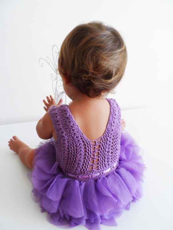 Baby Tulle Dress with Lace Stretch Crochet Bodice. by AylinkaShop, $60.00