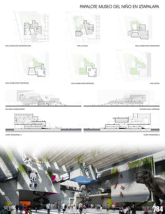 Finalistas del Concurso Nacional de Arquitectura Papalote Museo del Niño Iztapalapa / México,Propuesta de CRAFT Arquitectos