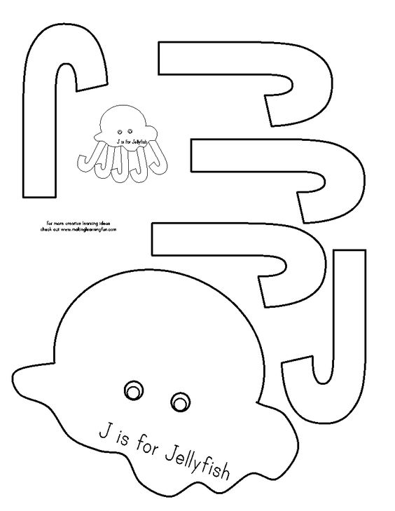 J is for jellyfish  Check out the website for more