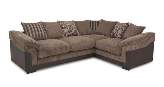 Left Hand Facing 2 Seater Pillow Back Corner Sofa Eternal