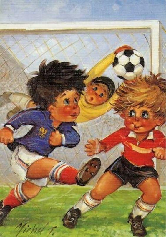 St. Wold .......  Jack en z'n vriendje gaan een partijtje voetballen.