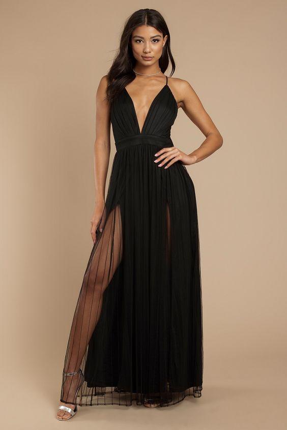 Vestido de formatura preto básico