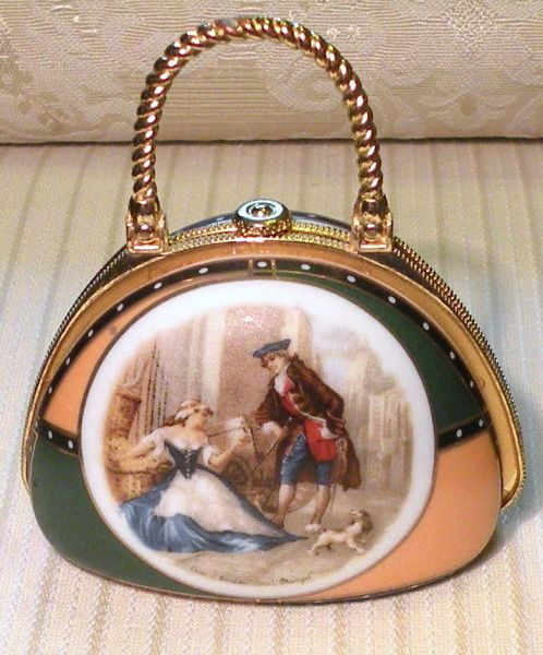 Vintage Porcelain Purse Pill Box Decorative Boxes Chests Etc New Decorative Pill Boxes For Purse
