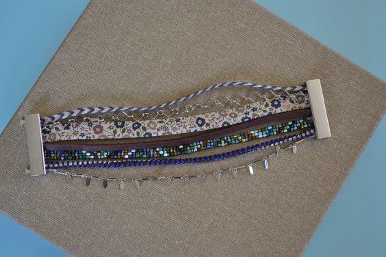 Manchette brésilienne composé de différents bracelets