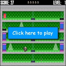 Elevation II - Enjoy some fast-paced fun playing this one! Control the player using the left and right arrows on your keyboard to move the player to the exit door without getting bonked. Starts slow, then gets faster and more challenging at each level!