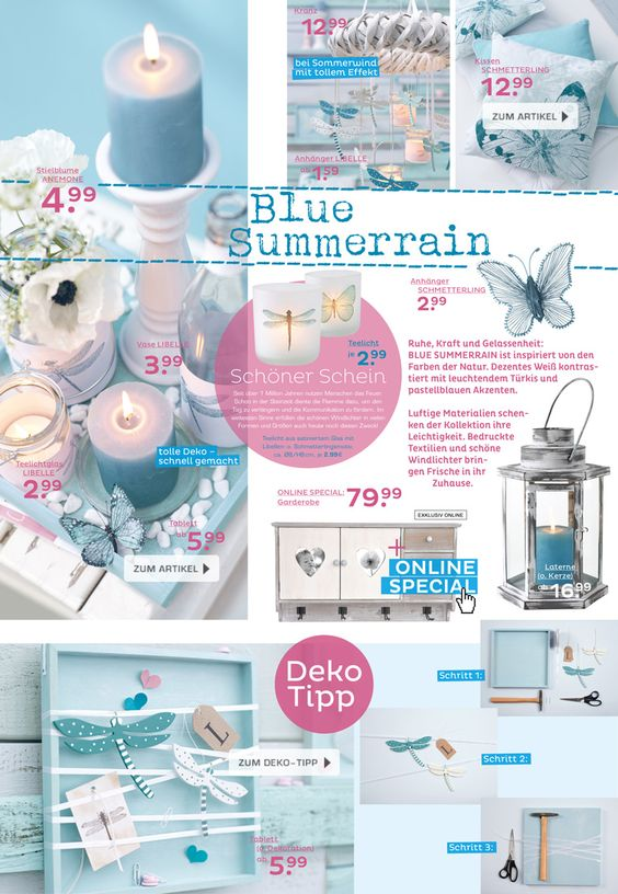Kollektion Blue Summerrain im DEPOT Online Shop