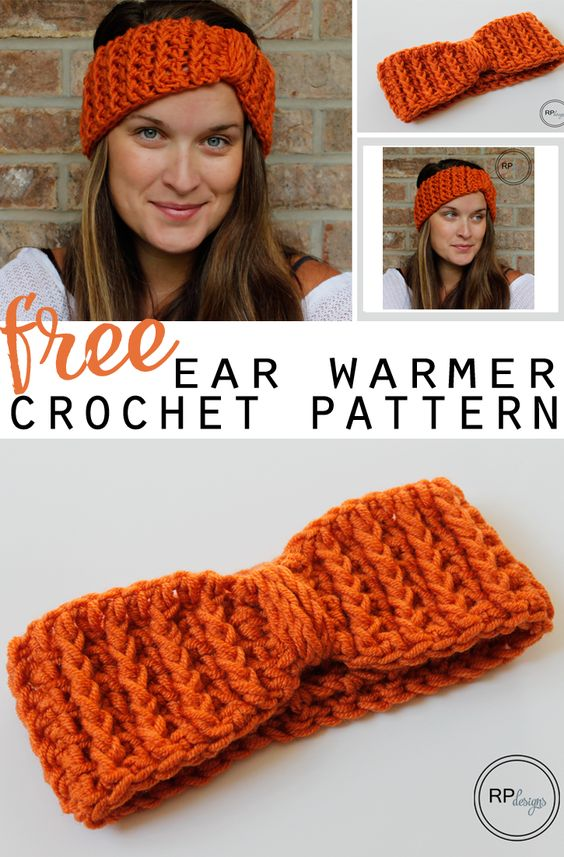 Free Crochet Pattern for a Cabled Ear Warmer from Rescued Paw Designs. www.rescuedpawdesigns.com: