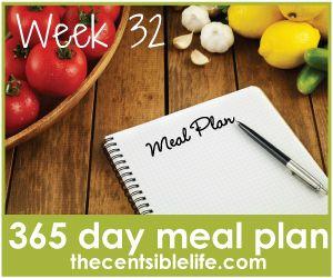 365 day meal plan: week 32