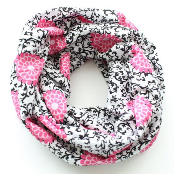 Scroll Flower Infinity Scarf Baby Toddler by BrittsBowtiqueVA