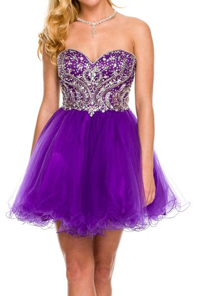 Beaded Princess Flare Short Dress - Multiple Colors Available