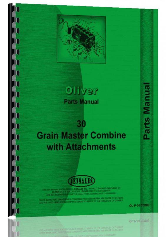 Oliver 30 Combine Parts Manual