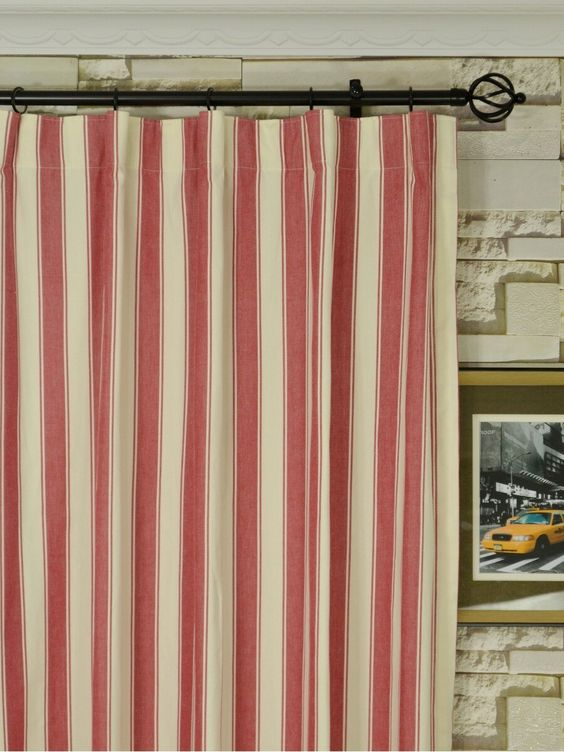 Curtains Ideas 120 inch length curtains : Moonbay Narrow-stripe Versatile Pleat Cotton Extra Long Curtains ...