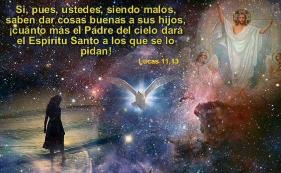 Si, pues, ustedes, siendo malos, saben dar cosas buenas a sus hijos, ¡cuánto más el Padre del cielo dará el Espíritu Santo a los que se lo pidan!