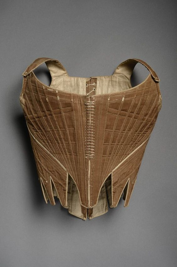 Half-boned stays, 1770s-80s, French, Museé du Costume et de la Dentelle