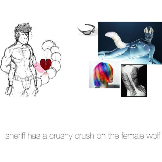 Sheriff telling the female wolf how he feels even tho she's taken~ by luna-killer on Polyvore featuring polyvore fashion style TEN