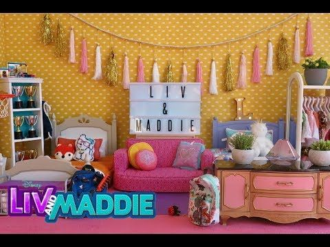 American Girl Doll Bedroom Liv And Maddie Youtube Girl