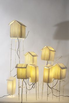 Paper lamps sculpture and lamps on pinterest - Etoile papier lumineuse ...