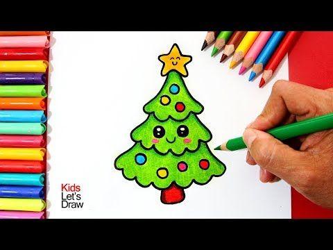 Como Dibujar Un Arbol De Navidad Kawaii Youtube Dibujo De Navidad Imagenes De Navidad Kawaii Como Dibujar Arboles