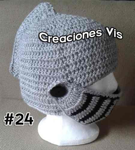 Gorro Casco Medieval Gladiador Tejido Crochet Todaslastallas