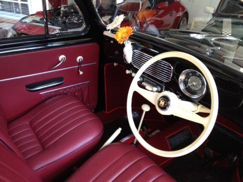 Interior of 1956 Volkswagen Type 1 Beetle oval window for sale