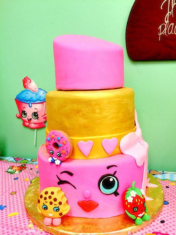 Homemade Chocolate Shopkins Birthday Cake