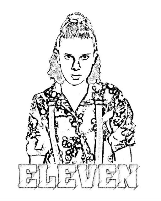 Free Coloring Page Of Eleven From Strangerthings3 Strangerthingsfanart Coloring Books Stranger Things Art Stranger Things Sticker