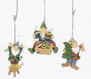 Adorable Christmas Gnomes Tree Ornaments set 3 on Amazon