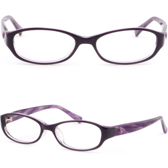 Eyeglass Frame Pieces : Details about Womens Acetate Plastic Frame Flower Side ...