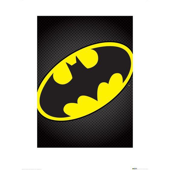 DC Comics Batman Symbol Graphic Art | Wayfair UK