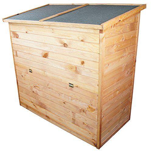 Auflagenbox XXL Gartenbox aus Holz 126x119x69 cm ca. 650 L Volumen