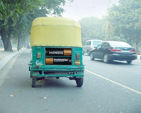 Funny art of outdoor advertising