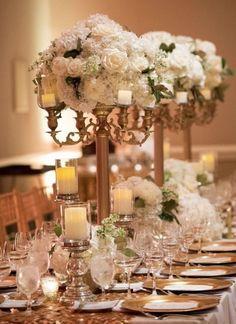 Wedding reception centerpiece idea; Featured Photographer: Pamela Hults Photography