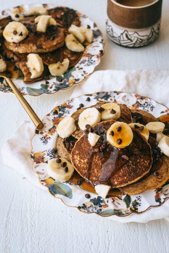 Vegan Gluten-Free Banana Oat Pancakes