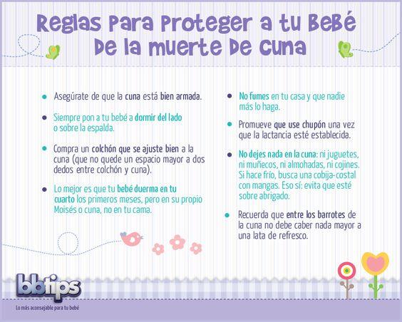 No dejes de seguir estas #reglas para #proteger a tu #bebé de la #muerte de #cuna (o muerte súbita):