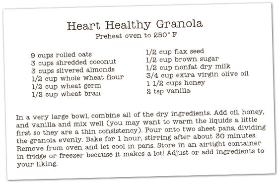 Our Little Family: Heart Healthy Granola