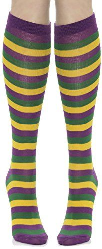 Mardi Gras Striped Socks (Purple/Green/Yellow) Adult Acce... https://www.amazon.com/dp/B00AHJCTF8/ref=cm_sw_r_pi_dp_x_k6caybEJY2WBP