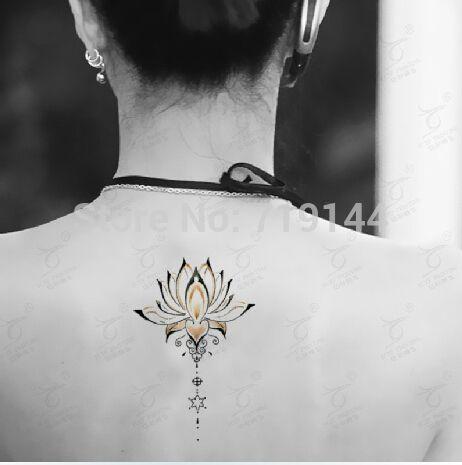 realistic lotus flower tattoo designs | Temporary tattoo lotus tattoo stickers sexy flower waterproof fake ...
