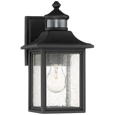 Moray Bay 11 1 2 H Black Motion Sensor Outdoor Wall Light 42f25