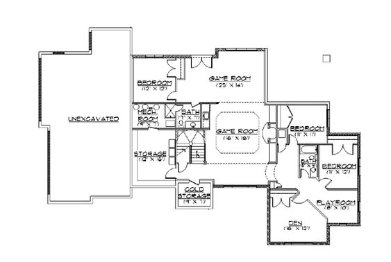 European House Plan 79817 House Plans Basements And