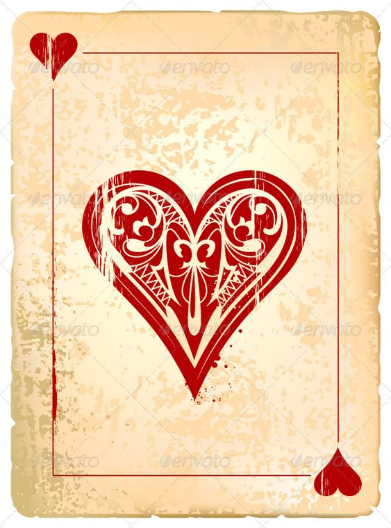 queen of hearts card template - photo #10