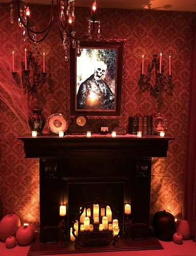 Gothic fireplace on Halloween Forum