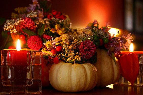 Lovely centerpiece for Thanksgiving.
